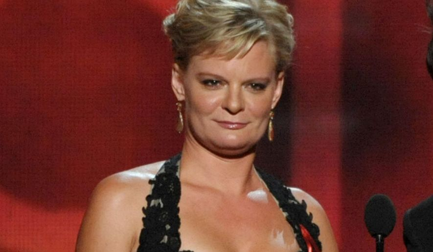 "FILE - In this Sept. 23, 2012 file photo, actress Martha Plimpton presents an award at the 64th Primetime Emmy Awards at the Nokia Theatre in Los Angeles. Plimpton appears in the Broadway play, ""A Delicate Balance."" (Photo by John Shearer/Invision/AP, File)"