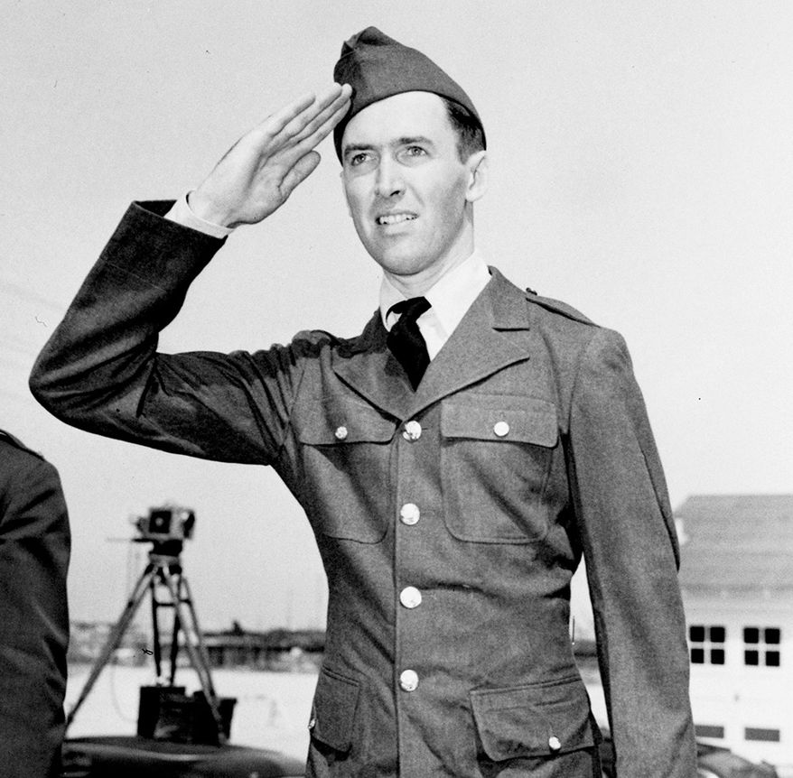 Jimmy Stewart was drafted into the United States Army in 1940 but was rejected for failing to meet height and weight requirements for new recruits—Stewart was five pounds under the standard. To get up to 148 pounds, he sought out the help of Metro-Goldwyn-Mayer's muscle man and trainer Don Loomis, who was noted for his ability to add or subtract pounds in his studio gymnasium. Stewart subsequently attempted to enlist in the Air Corps, but still came in under the weight requirement, although he persuaded the enlistment officer to run new tests, this time passing the weigh-in,[33][N 2] with the result that Stewart enlisted and was inducted in the Army on March 22, 1941. He became the first major American movie star to wear a military uniform in World War II. He had a noted military career and was a World War II and Vietnam War veteran, who rose to the rank of Brigadier General in the United States Air Force Reserve. Jimmy Stewart, who won the Academy Award for acting, is shown at Fort MacArthur, Calif., March 22, 1941, in his new uniform after his induction earlier in the day in Los Angeles.  He is a licensed pilot and hopes to go to the Army Air Corps. (AP Photo)