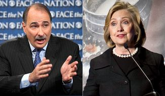 David Axelrod, former adviser to President Obama and former Secretary of State Hillary Clinton. (AP photos)