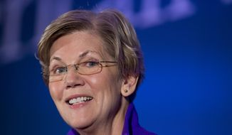 Sen. Elizabeth Warren, D-Mass., speaks in Washington in this Nov. 19, 2014, file photo. (AP Photo/Manuel Balce Ceneta, File)