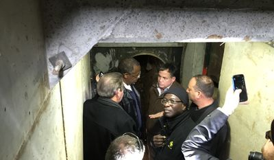 Ben Caron and business manager Armstrong Williams eye-witness terrorist tunnels in the Gaza Strip. (Photo from Armstrong WIlliams Productions)