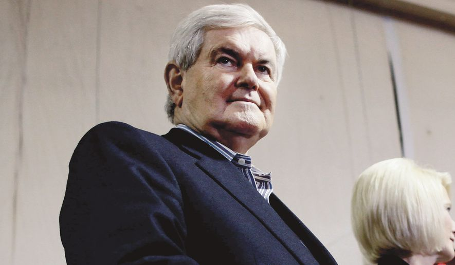 "When Sony canceled the release of a film in response to terrorist threats from hackers, Republican Newt Gingrich tweeted that ""American has lost its first cyberwar."" (Associated Press)"