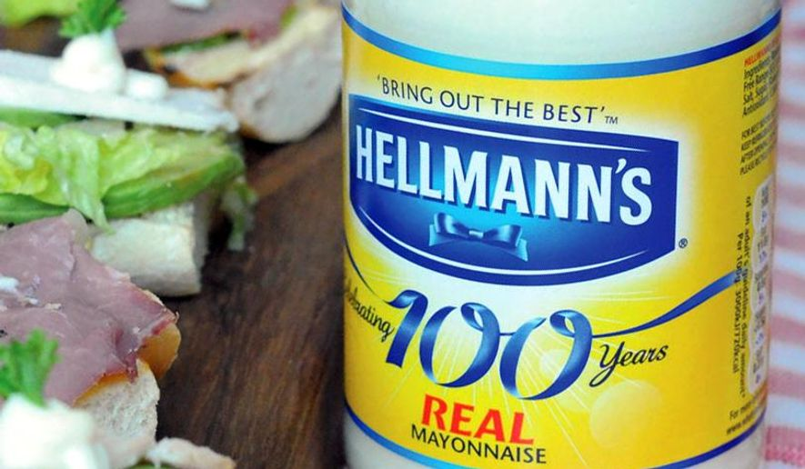 "FILE - This undated file product image provided by Unilever shows Hellmann's real mayonnaise. Hellman's mayonnaise maker Unilever says that it has withdrawn its lawsuit against the maker of ""Just Mayo.""  Unilever had filed suit against Hampton Creek earlier this year claiming false advertising for Just Mayo, an eggless product.  (AP Photo/Unilever, File)"