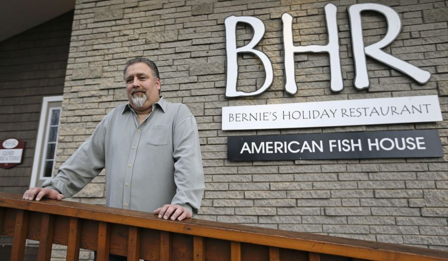 """Restaurant owner Randy Resnick poses for a portrait Wednesday, Dec. 17, 2014, in Rock Hill, N.Y. Three economically distressed communities in upstate New York have been selected as sites for casinos bringing an end to a fierce competition among developers and job-hungry communities. """"This means rebirth. This means new life,"""" said Resnick. (AP Photo/Frank Franklin II)"""