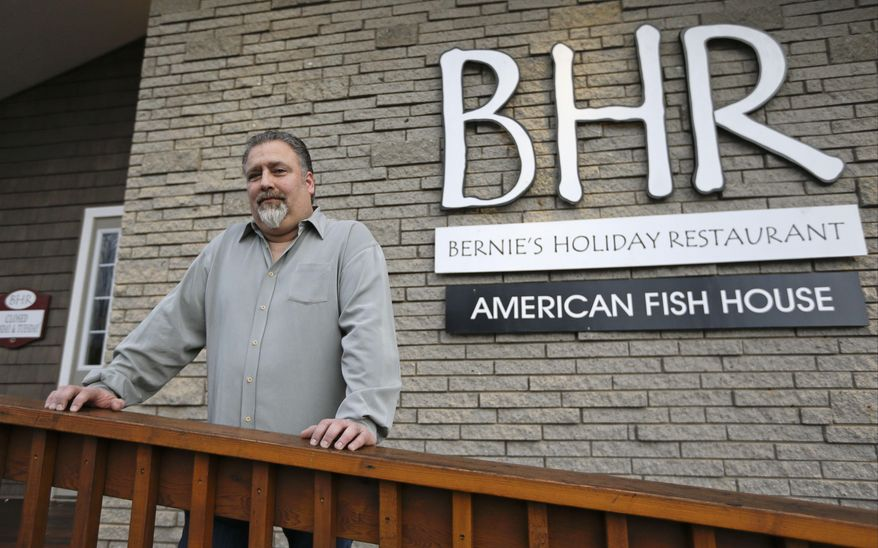 "Restaurant owner Randy Resnick poses for a portrait Wednesday, Dec. 17, 2014, in Rock Hill, N.Y. Three economically distressed communities in upstate New York have been selected as sites for casinos bringing an end to a fierce competition among developers and job-hungry communities. ""This means rebirth. This means new life,"" said Resnick. (AP Photo/Frank Franklin II)"