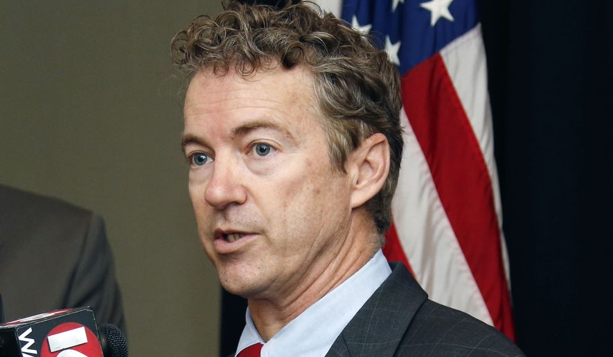 "In this Dec. 8, 2014 file, photo, Sen. Rand Paul, R-Ky., speaks in Jackson, Miss. He said Thursday that starting to trade with Cuba ""is probably a good idea"" and that the lengthy economic embargo against the communist island ""just hasn't worked."" (AP Photo/Rogelio V. Solis. File)"
