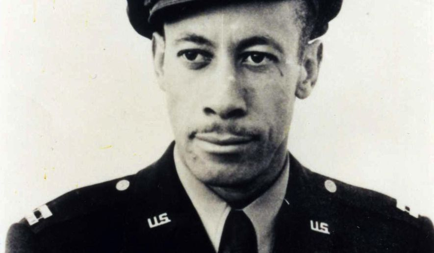 This July 1943 photo provided by the Los Angeles Chapter, Tuskegee Airmen Inc., shows Lowell C. Steward after his graduation from flight training at Tuskegee Army Air Field, in Tuskegee, Ala. Steward, a former member of the Tuskegee Airmen who flew nearly 200 missions over Europe during World War II, died Wednesday, Dec. 17, 2014, in California. He was 95. (AP Photo/Los Angeles Chaper Tuskegee Airmen Inc.)