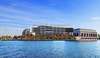 An artist's rendering of the U.S. Naval Academy's new cyber center. (U.S. Navy)