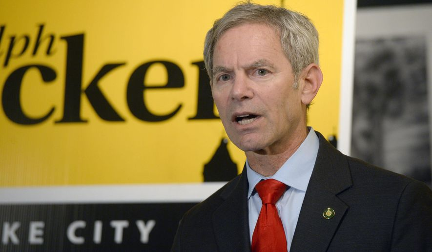 This photo taken Dec. 1, 2014, shows Salt Lake City Mayor Ralph Becker announcing his candidacy for a third term for mayor at the Mestizo Coffeehouse in Salt Lake City, Utah.  (AP Photo/The Salt Lake Tribune, Al Hartmann)