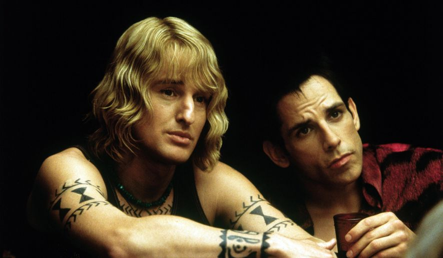 "FILE - This undated photo provided by Paramount Home Entertainment shows Owen Wilson, left, and Ben Stiller during a scene from ""Zoolander.""   (AP Photo/Paramount Home Entertainment)   **NO SALES**"