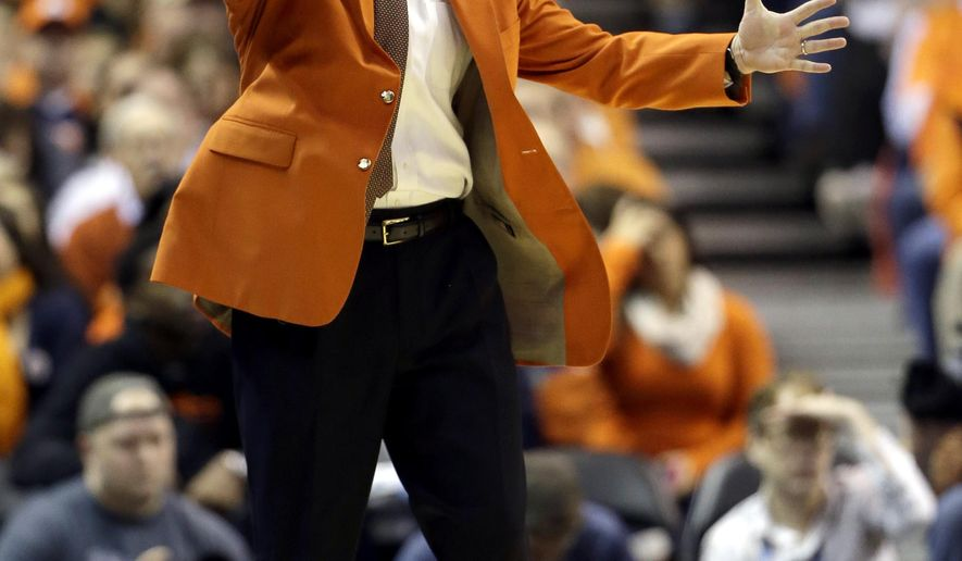 Illinois head coach John Groce yells from the sidelines during the first half of an NCAA college basketball game against Missouri Saturday, Dec. 20, 2014, in St. Louis. (AP Photo/Jeff Roberson)