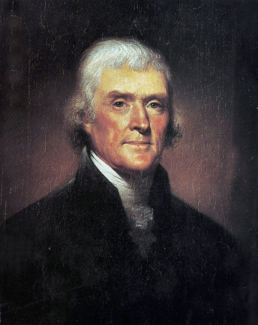 Thomas Jefferson (Portrait by Rembrandt Peale) ** FILE **
