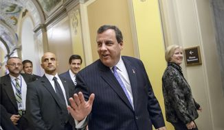 New Jersey Gov. Chris Christie leaves the Capitol in Washington in this Nov. 17, 2014, file photo. (AP Photo/J. Scott Applewhite, File)