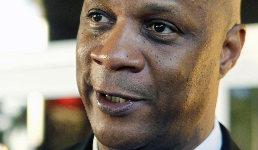 FILE - This Feb. 24, 2012 file photo shows former New York Mets outfielder Darryl Strawberry speaking with reporters in Palm Beach Gardens, Fla. The Internal Revenue Service is auctioning off the deferred compensation agreement that was part of  Strawberry's 1985-90 contract with the New York Mets to satisfy taxes owed by the former All-Star outfielder. The IRS said in a statement Monday, Dec. 22, 2014 the agreement is worth an estimated $1,279,000. (AP Photo/Joel Auerbach, file)