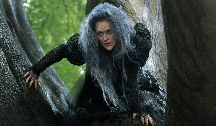 """Meryl Streep in a scene from """"Into the Woods,"""" which opens Christmas Day. (AP Photo/Disney Enterprises, Inc., Peter Mountain)"""