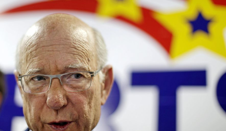 "FILE - In this Wednesday, Nov. 5, 2014, file photo, Kansas Sen. Pat Roberts speaks to the media at the Kansas Republican Party headquarters in Topeka, Kan. Roberts is skeptical of President Barack Obama's decision to restore diplomatic ties with Cuba and suggested the result is only a ""public relations change."" (AP Photo/Charlie Riedel, File)"