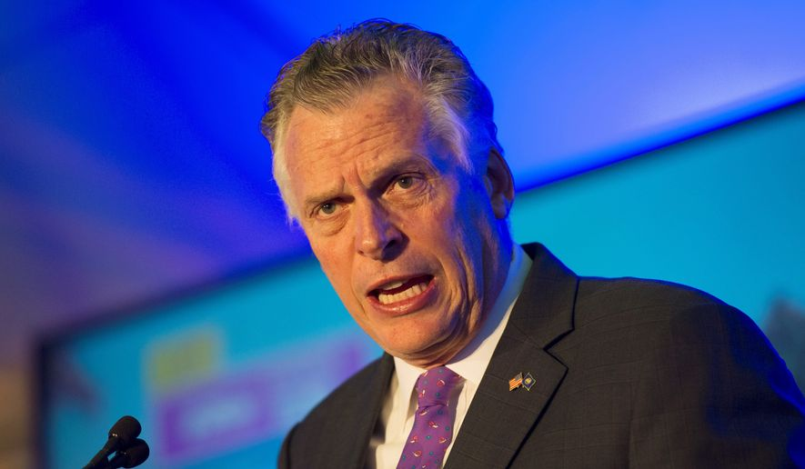 Virginia Gov. Terry McAuliffe. (Associated Press) ** FILE **