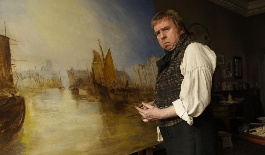 "In this image released by Sony Pictures Classics, Timothy Spall appears in a scene from ""Mr. Turner."" (AP Photo/Sony Pictures Classics)"