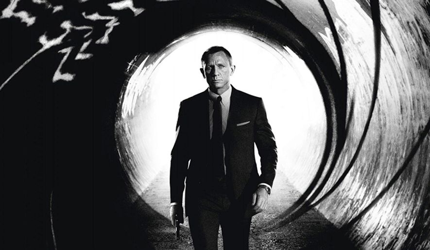 Daniel Craig as James Bond in the movie in Skyfall.