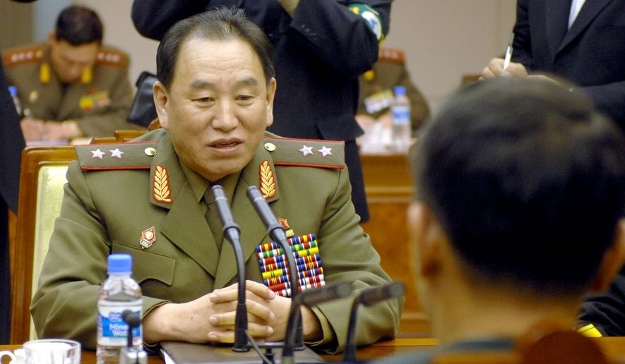 North Korea's chief delegate Kim Yong-chol has been identified as the man behind the Sony hack. (AP Photo/Jung Yeon-je, POOL)