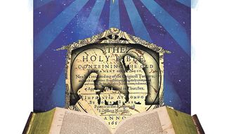Illustration on the value of the Christmas story by Linas Garsys/The Washington Times