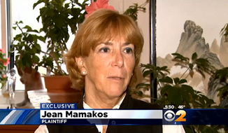 Jean Mamakos, 68, of Huntington, claims that rude flight attendants overreacted when she tried to switch to an empty exit-row seat during a layover in Seattle. (CBS2)