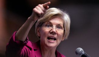 Sen. Elizabeth Warren of Massachusetts has amassed a solidly liberal record, but it's the issues on which she has taken the lead that are winning over the Democratic Party's left wing, who say she is a fighter more than anything else. (Associated Press)