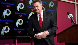 """Man of words: """"We're going to change the way that we've done business,"""" Redskins general manager Bruce Allen said nearly five years ago."""