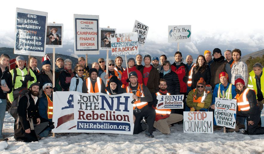 """The New Hampshire Rebellion - a nonpartisan grassroots group -  wants politicians to know their state is 'not for sale."""" (Image from New Hampshire Rebellion)"""