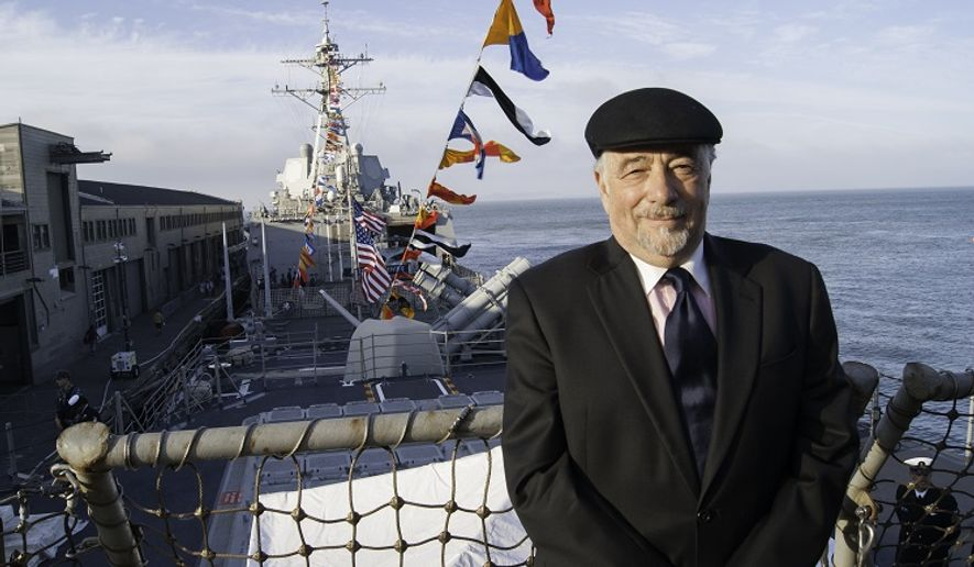 Talk radio host Michael Savage. (Photo by FC2(SW) Andrew Albin, command photographer for the USS Chosin)