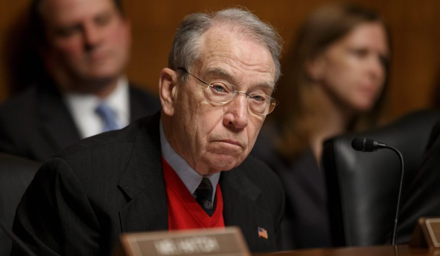 Sen. Chuck Grassley of Iowa (Associated Press) **FILE**
