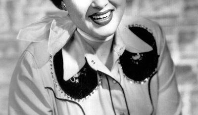 2. Crazy by Patsy Cline - Country singer and recording star Patsy Cline is shown in this undated photo.  Patsy Cline died in a plane crash on March 5, 1963.  (AP Photo)