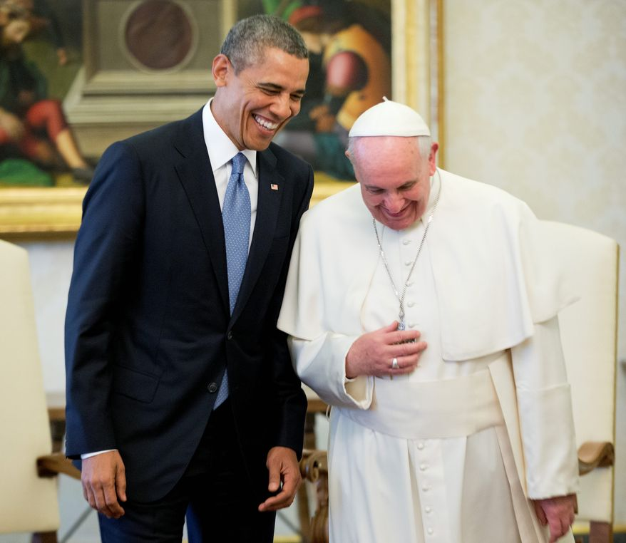 By aligning with Pope Francis, President Obama can highlight agreement on issues with one of the world's most respected figures. (Associated Press)