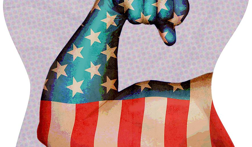 Peace Through Strength Illustration by Greg Groesch/The Washington Times
