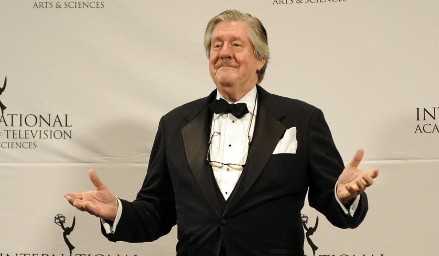 This Nov. 21, 2011, file photo shows, Edward Herrmann after presenting an award at the 39th International Emmy Awards, in New York. AP Photo/Henny Ray Abrams, File)