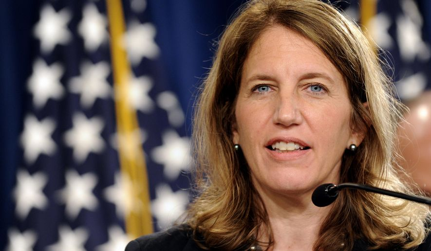 Health and Human Services Secretary Sylvia Burwell speaks at the Treasury Department in Washington in this July 28, 2014, file photo. (AP Photo/Susan Walsh, File)