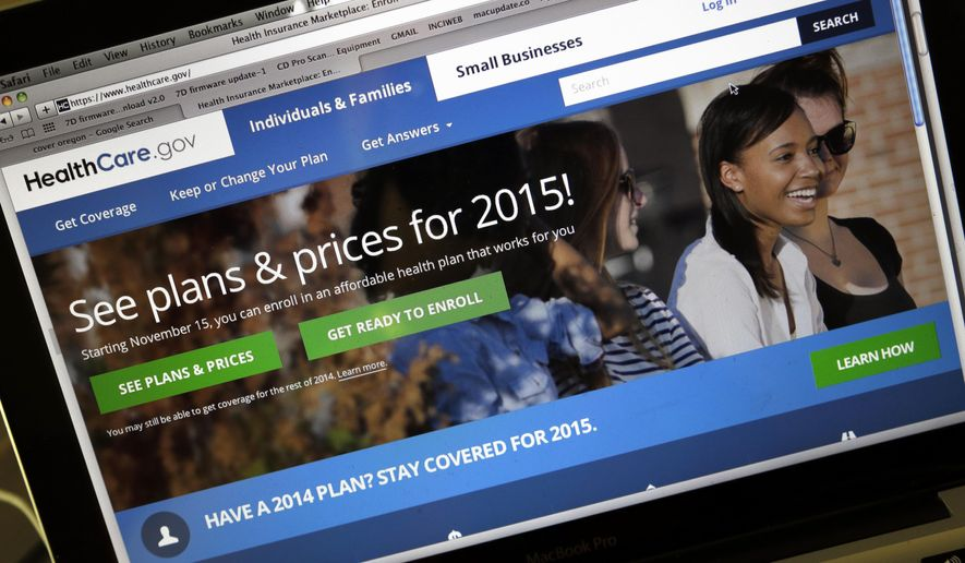 The HealthCare.gov website (AP Photo/Don Ryan, File)