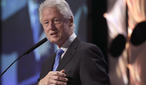 Former President Bill Clinton speaks Dec. 4, 2014, in Little Rock, Ark. (Associated Press) **FILE**