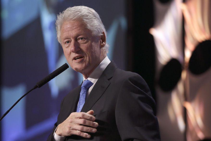 Former President Bill Clinton speaks Dec. 4, 2014, in Little Rock, Ark. (Associated Press) **FILE**