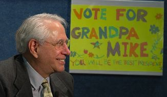 Mike Gravel at the launch of his presidential campaign in April 2006. (Wikipedia) ** FILE **