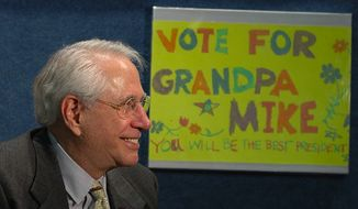 Mike Gravel at the launch of his presidential campaign in April 2006. (Wikipedia)