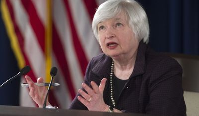 Federal Reserve Chairwoman Janet L. Yellen said earlier this month the Fed remains opposed to stricter oversight of its monetary policy decisions, and Reuters reported she and other Fed officials are lobbying Capitol Hill to drop the audit push. (Associated Press)