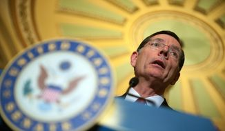 "Sen. John Barrasso, Wyoming Republican, who frequently rails against President Obama's health care law on the chamber floor, said Congress will use ""every too out there, including reconciliation"" to repeal part of all of the Affordable Care Act. (Associated Press)"