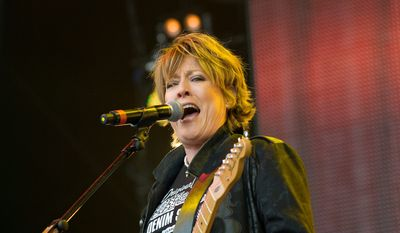 "Katrina Leskanich performing Rewind Festival at Scone Palace, Perth, Scotland, Britain. Though she's no longer with The Waves, the ""Walking on Sunshine"" singer contiues to tour and make new music. (Associated Press)"