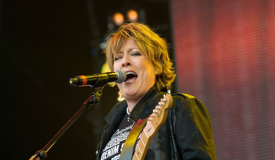 """Katrina Leskanich performing Rewind Festival at Scone Palace, Perth, Scotland, Britain. Though she's no longer with The Waves, the """"Walking on Sunshine"""" singer contiues to tour and make new music. (Associated Press)"""
