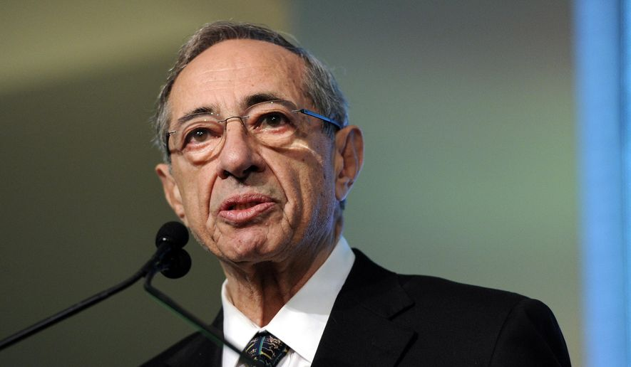 Former New York Gov. Mario Cuomo has died at age 82 only hours after his son, current Gov. Andrew Cuomo, was sworn in to his second term in office.  (AP Photo/Evan Agostini, File)