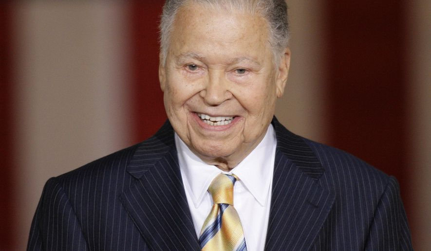 File-This Oct. 28, 2009, file photo shows former Massachusetts Sen. Edward William Brooke speaking in the Rotunda on Capitol Hill in Washington,  during a ceremony where he received the Congressional Gold Medal. Brooke, the first black to win popular election to the Senate, has died. He was 95. Ralph Neas, a former aide, said Brooke died Saturday, Jan. 3, 2015, of natural causes at his Coral Gables, Fla, home. (AP Photo/Alex Brandon, File)
