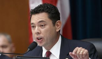 Rep. Jason Chaffetz, R-Utah, speaks on Capitol Hill in Washington in this Sept. 30, 2014, file photo. (AP Photo/J. Scott Applewhite, File)
