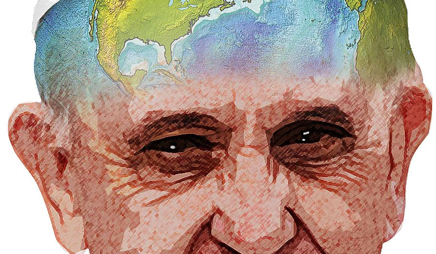 Pope Endorses Climate Change Illustration by Greg Groesch/The Washington Times