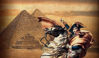 Napoleon in Egypt Illustration by Greg Groesch/The Washington Times